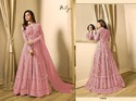 Semi-stitched Embroidered Net Embroidery Work Salwar Suit