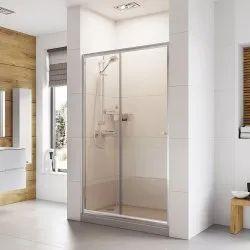 Aluminium (Frame Material) Sliding Bathroom Door, Size/Dimension: 6 to 8 feet Height