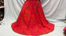 Red Urebi Lehenga Skirt