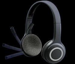 Black Plastic H600 Logitech Wireless Headset, Bluetooth Version: 2.1, Weight: 105 G