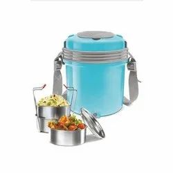 Plastic Body Milton Electric Tiffin, Capacity: 3 Containers, for Food Storage