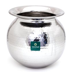 Silver Coconut SS Hammered Lota for Home