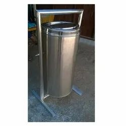 Swing Type Stainless Steel Pole-Mounted Bins