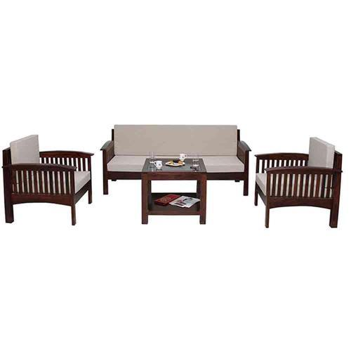 Settee Sofa Furniture Prices In India: 5 Seater Wooden Sofa Set At Rs 19000 /set