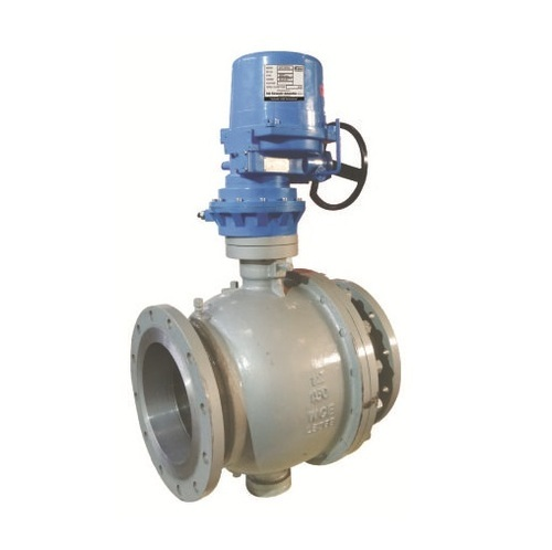 Electrical Actuator Operated Trunion Mounted Ball Valve