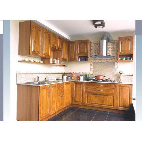 Indian Kitchens Modular Kitchens: Wooden Modular Kitchen At Rs 100000 /unit