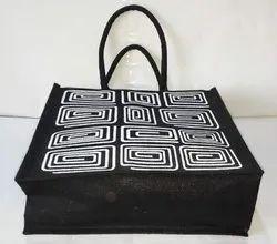 Black Colour Jute Bag