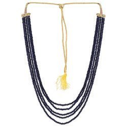 Ankur Blossomy Five Layer Blue Beads Necklace For Women