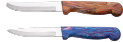 Round Point Marble Handle Knife
