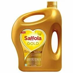 Saffola Gold Blended Edible Vegetable Cooking Oil, Packaging Size: 5 litre, Speciality: High in Protein