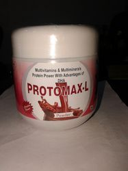 Multivitamins & Multiminerals Protein Powder With DHA, Packaging Type: Plastic Container