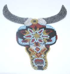 Bull Beaded Patches