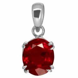 Ruby Pendant Silver Gemstone