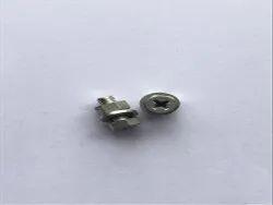 Brass M5x12mm Fastener Set (1bolt 1 Washers 1 Hex Nuts), Grade: Lead+Tin