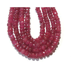 Ruby Faceted Gemstone Beads