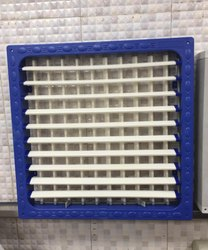 20-24 Blue White Rectangle Cooler Front Grill