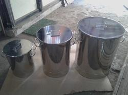 Stainless Steel Grey Steel Container with Lid