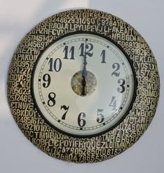 Alphabetical Wooden Wall Clock