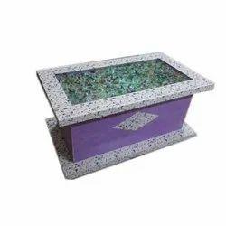 Wood And Glass Rectangular Tea Table