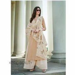 Modern Creations Ladies Printed Palazzo Suit, Handwash