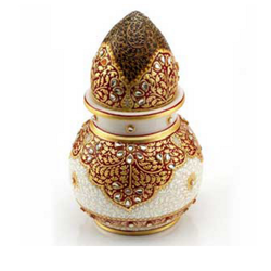 Marble Handicrafts Decorative Lotus Pot Exporter From Jaipur