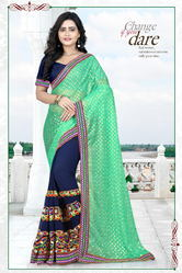 Riva Enterprise Women's Lycra Pallu  Embroidred Saree