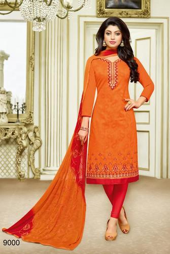 eb628e27ae Cotton Designer Unstitched Suit With Embroidery Dupatta, Rs 660 ...