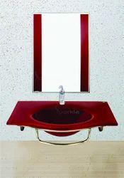 15mm Glass Wash Basin Set