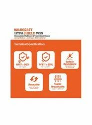 Reusable Wildcraft Hypa Shield N95, Certification: Sitra Approved, Number of Layers: 6