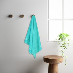 Welspun 1041943 Sea Green Quick Dry Cotton Bath Towel