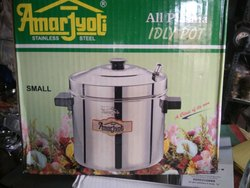 Stainless Steel Four Plate Idli Cooker, 4, Capacity: 5 - 7 L