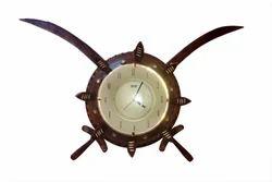 Wooden Brown Analog Wall Clock