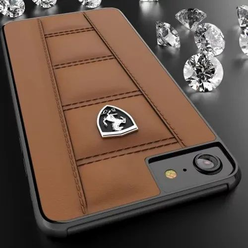 purchase cheap 29bb2 54ef4 Ferrari Apple iPhone 7/8 Official 458 Double Stitched Dual Material ...
