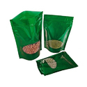 Green Oval Window Stand Up Pouches
