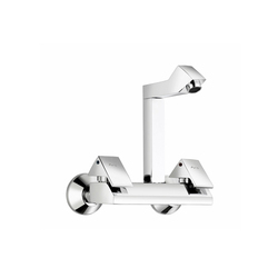 Wall Mounted Sink Mixer With Square Swinging Spout
