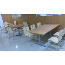 6 Seater Chair Cafeteria Table
