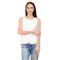 White Party Wear Ladies Designer Top