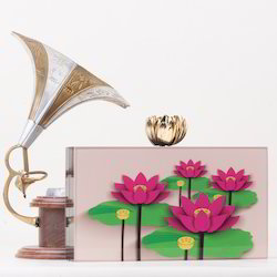 Rose Printed Acrylic Box Clutch