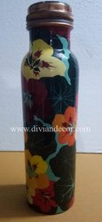 Meenakari Leak Proof Pure Copper Bottle