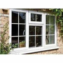 White UPVC Combination Window, Glass Thickness: 5 Mm