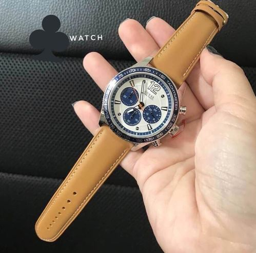 d63086a5a3b9b Guess Chronograph Leather Strap Watch, Gents Chronograph Watches, पुरुषों  की क्रोनोग्रफ़ वॉच - Brands ...