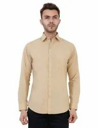 Dark Fawn Color Plain Shirt