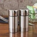 Stainless Steel Metal Round Salt and Pepper Shaker