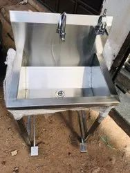 Stainless Steel Foot Operated Hand Wash Sink