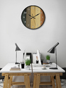 Brown 999store Printed Multicolour Strips Wall Clock