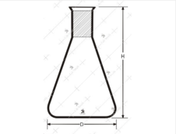 Conical Flasks with Socket,Transparent