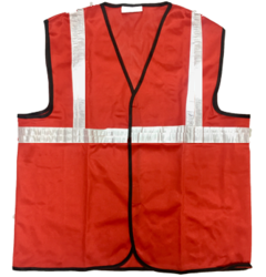 Reflective Vizwear Vests / Jackets 2 Red Front Opening