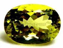 Lemon Quartz Green Gold Oval Gemstone