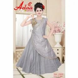 Party Wear Kids Net and Imported Fabric Gown