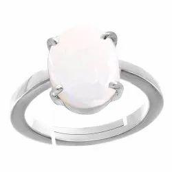 Opal Stone Ring Women and Men Silver Metal Gemstone